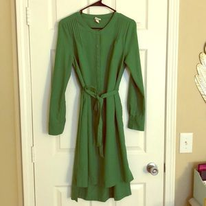 Target Merona Green High Low Button Up Dress